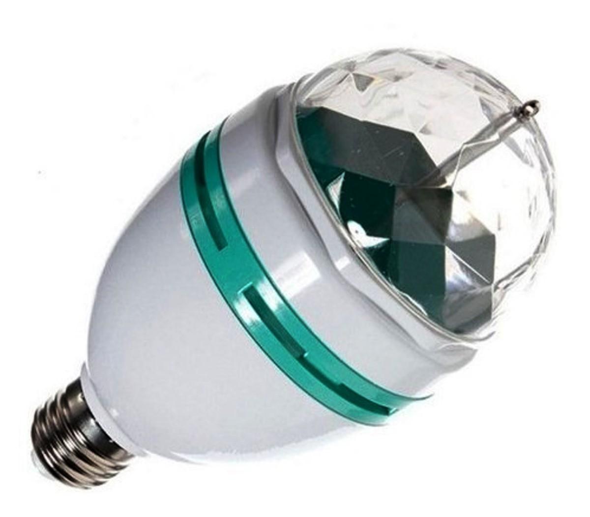 Kit 8 Mini Bola Maluca Led Lampada Colorida Rgb Dj Festas