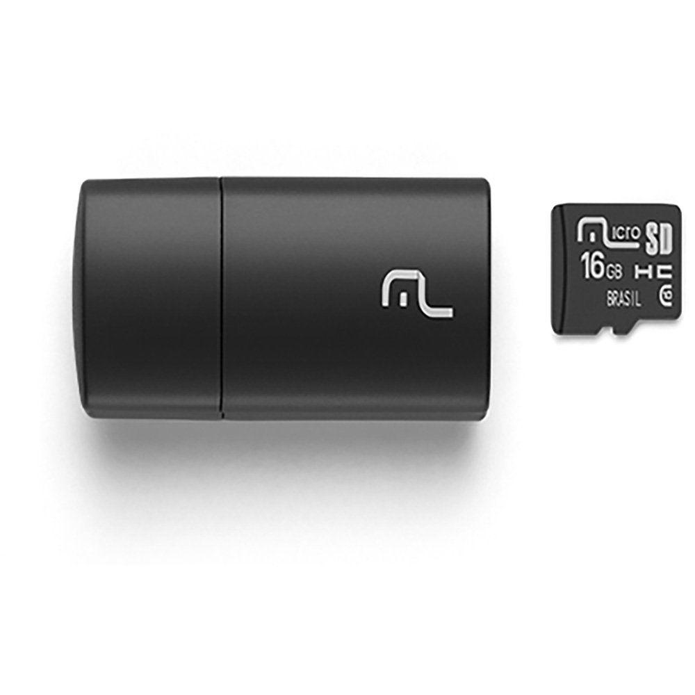 Kit Bateria Power Bank+cartão Com leitor Memória Micro 16gb