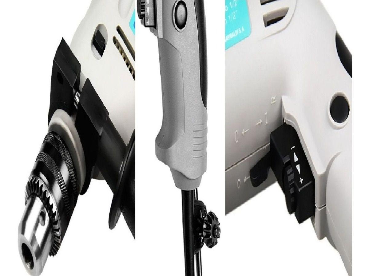 Kit Furadeira Impacto Tramontina 500w Reversível Brocas Bits