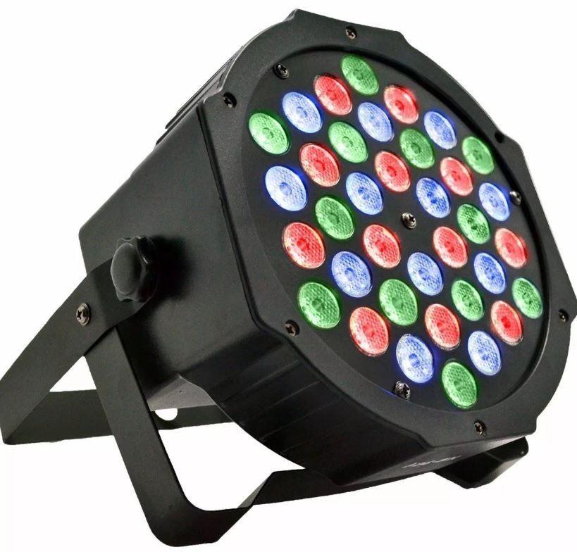 Kit Globo Bola Maluca + Canhão 36 Leds Iluminação Colorida