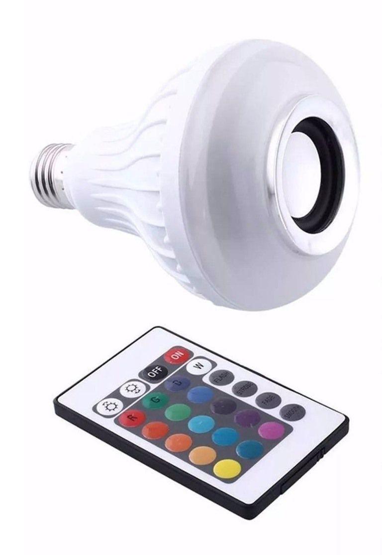 Kit Projetor Holográfico Bola Maluca Lâmpada Led Mp3 Efeitos