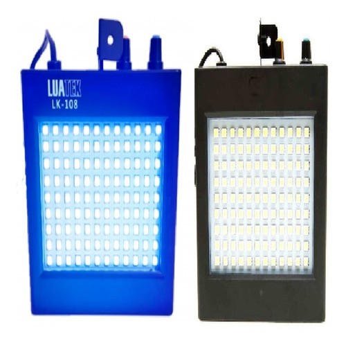 Kit Strobo Flash 108 Led Luz Branca E Rgb Colorido Show