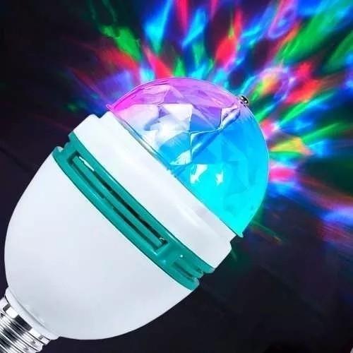 Luminária Lampada Dj Colorido Giratória Bola Maluca Festas