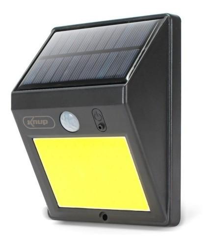 Luminária Refletor Solar Arandela 60 Leds Sensor De Presença