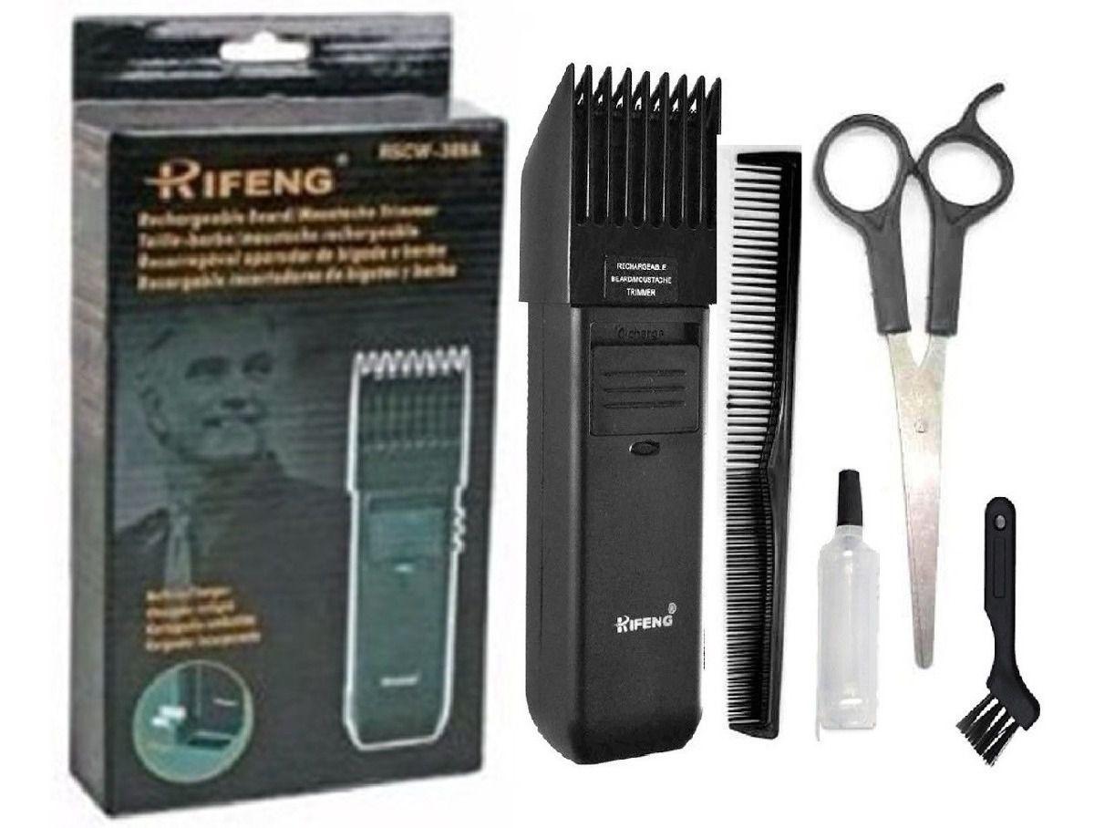 Maquina Aparador e Barbeador Rifeng Cortar Cabelo Barbeador