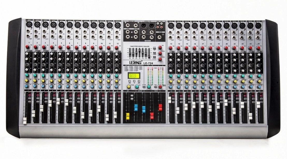 Mesa De Som 24 Canais Dj Auxiliar Mixer Digital Boa E Barata