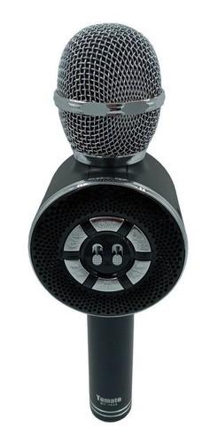 Microfone Bluetooth Karaokê Sem fio Portátil Usb Cartão Tf