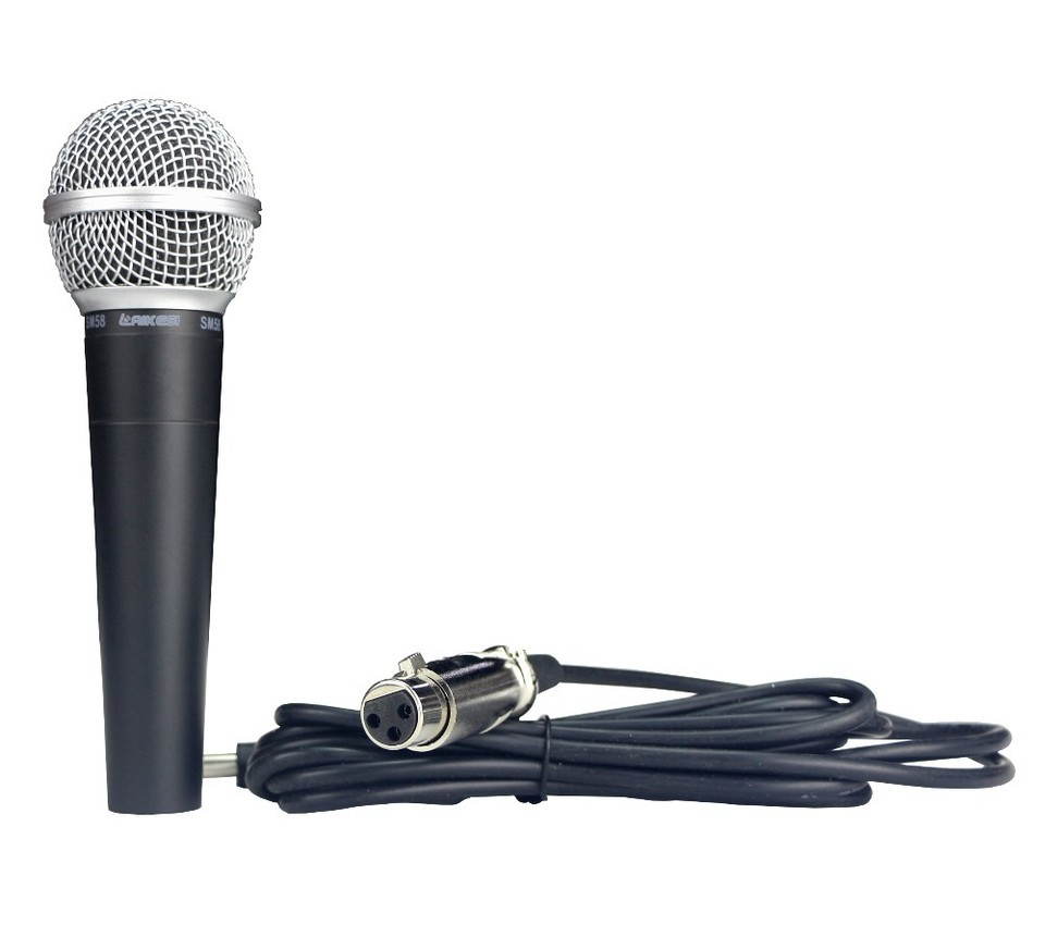 Microfone M-58 Com Fio Dinâmico Cultos Aniversários Eventos