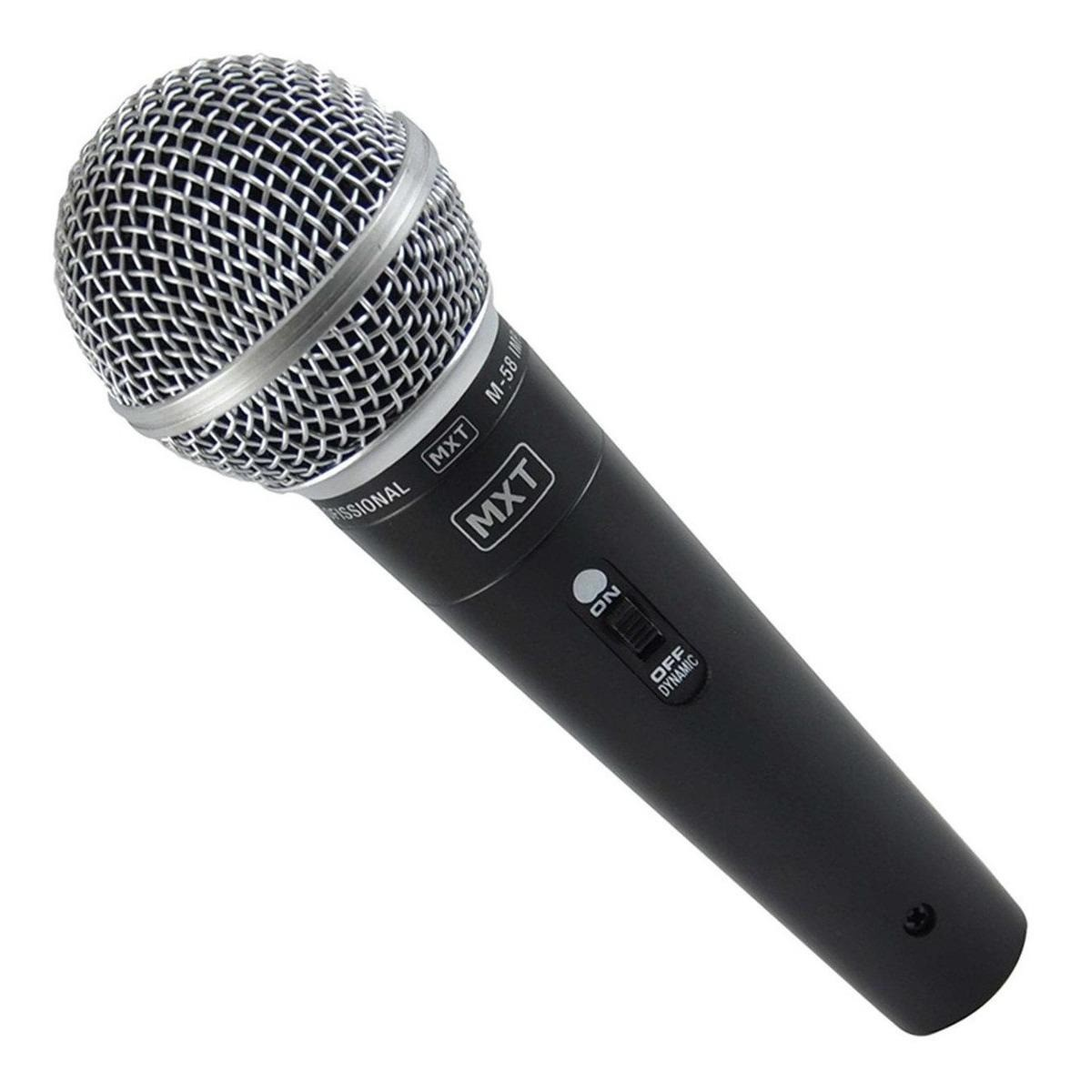Microfone M-58 Dinâmico Cabo 3 Metros Ideal Pequenos Eventos