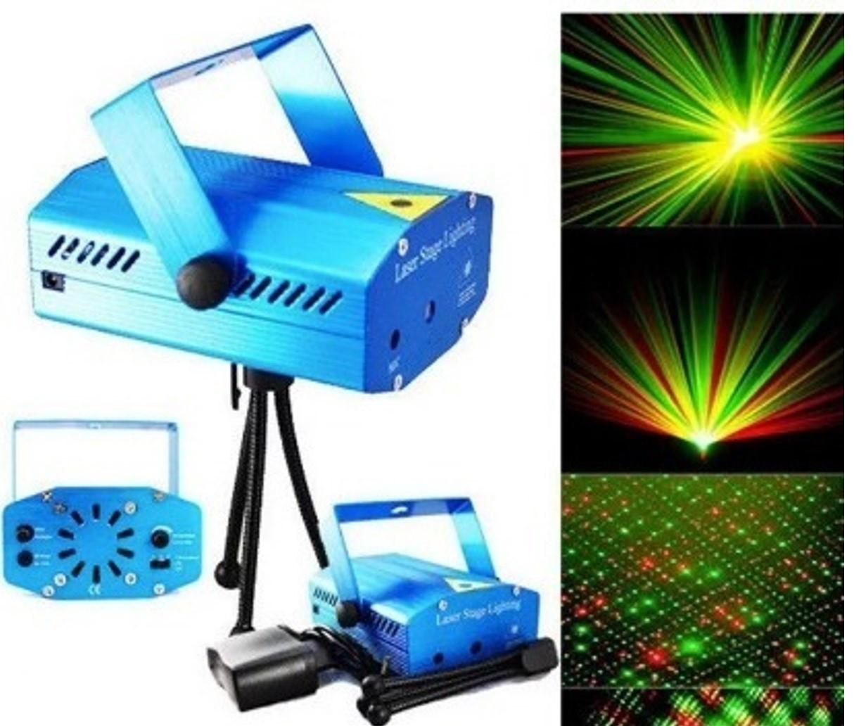Mini Laser dj Holográfico Projetor Efeitos Especiais verdes