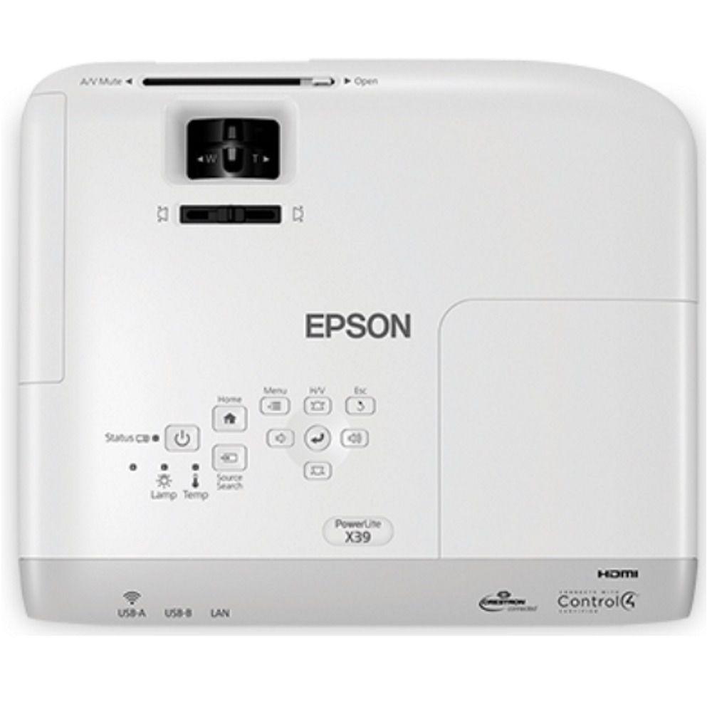 Projetor Epson Powerlite X39 V11h855024 3.500 Lumens 3lcd Hd