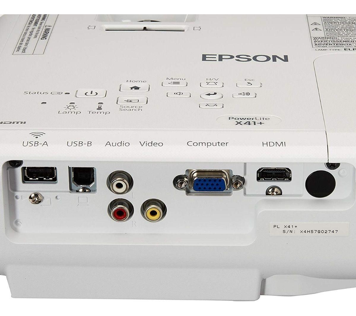 Projetor Powerlite X41+ Epson 3600 Lumens 3Lcd Full Hdmi Usb