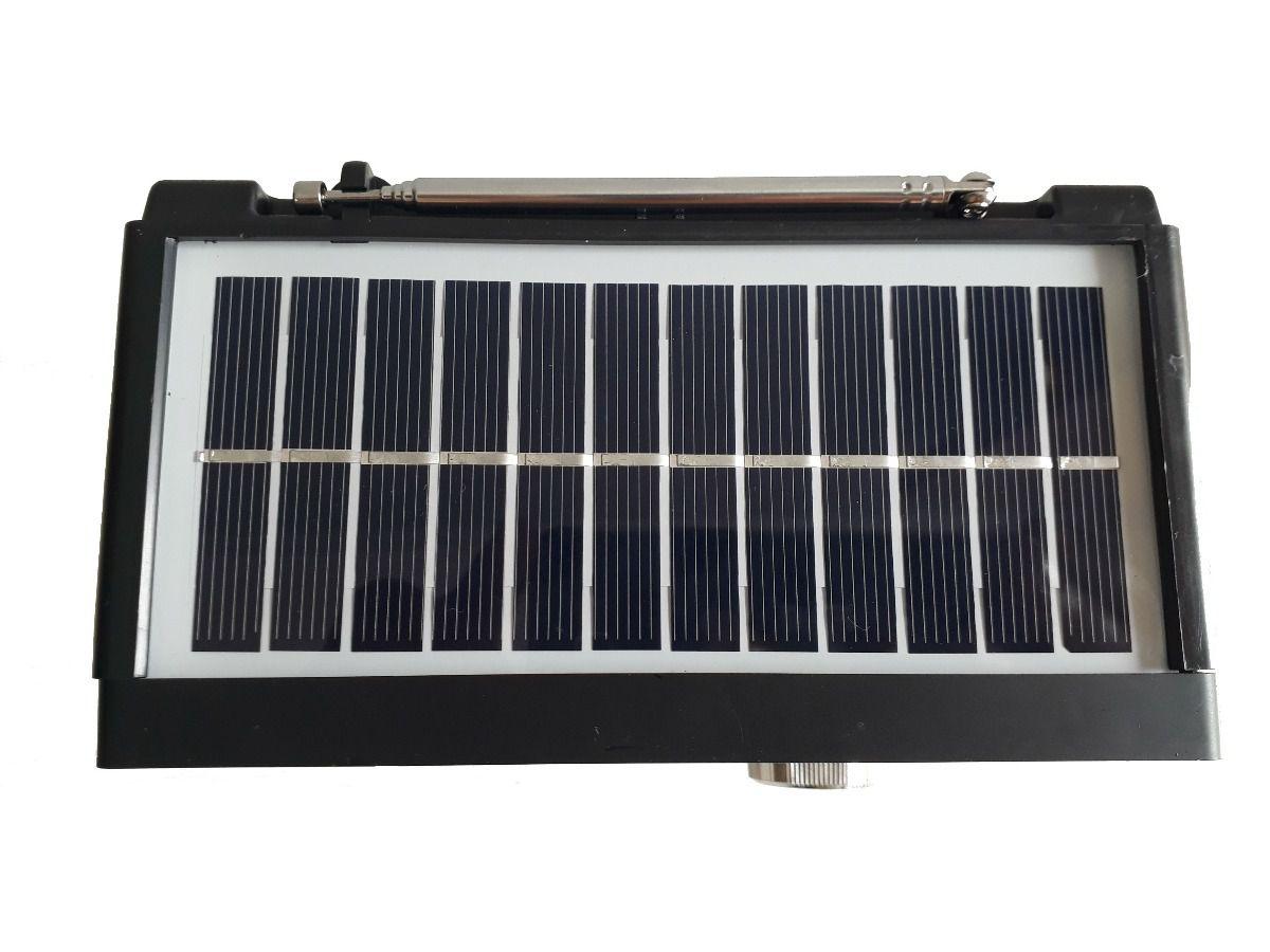 Rádio Am Fm Sw Bluetooth Pendrive Mp3 Funciona Bateria Solar Pilha Energia Bivolt