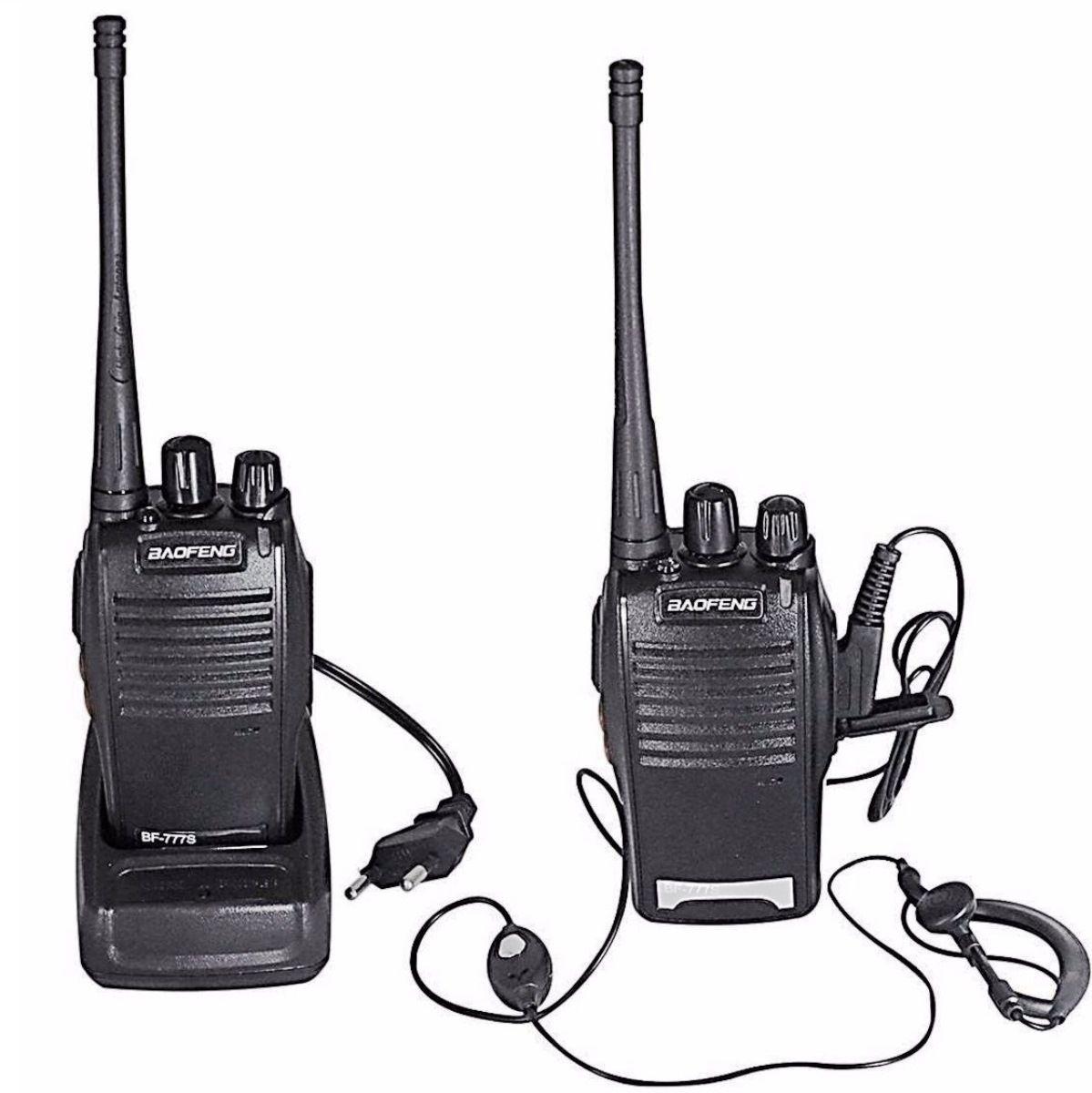 Radio Comunicador 777s Profissional Uhf Vhf 16 Canais Bivolt