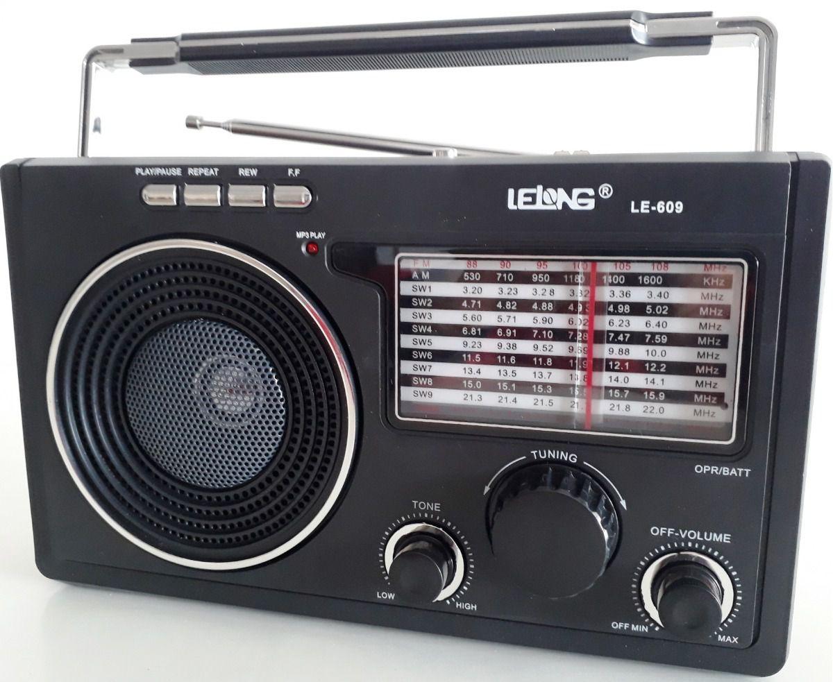Rádio Retro Antigo Clássico Mp3 Com Entrada Para Fone Ouvido