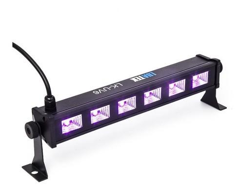 Ribalta Ultravioleta 6 Led Uv Luz Negra Projetor 20w Show Dj