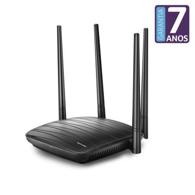 Roteador Ac1200 4 Portas, 4 Antenas Ip Ipv6 Re018 Dual Band