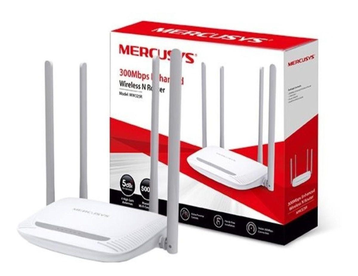 Roteador Internet Wireless Transmissão De 300mbps 4 Antenas