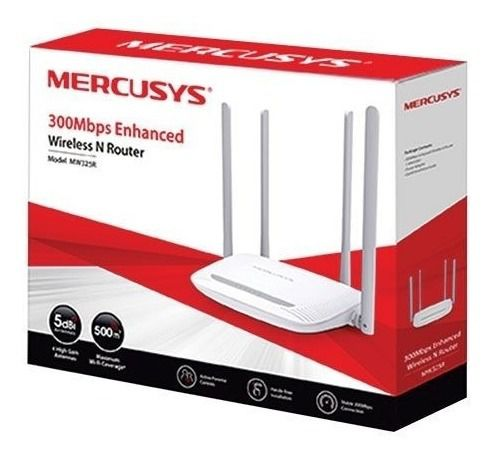 Roteador Wireless 300 mbps Internet Rede Wi Fi 4 Antenas PC