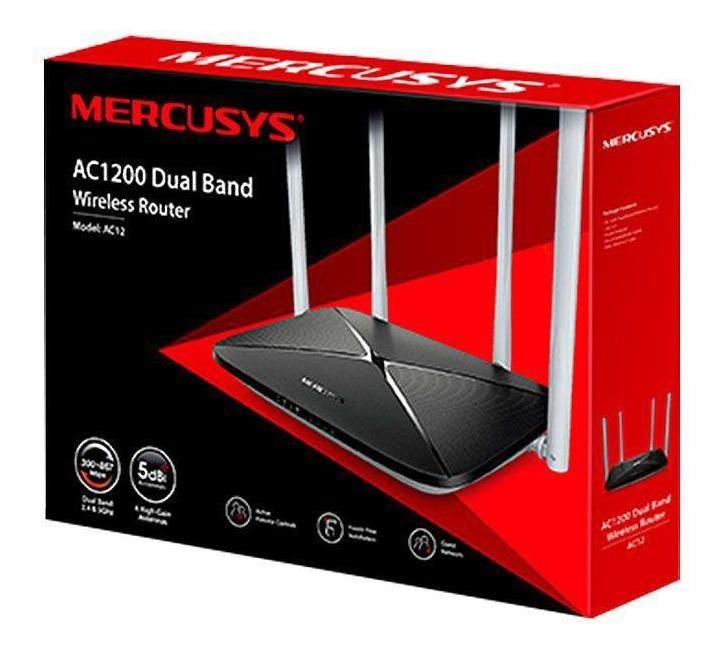 Roteador Wireless Ac12 V1 1200mpbs, Dual Band 4 Antenas 5dbi