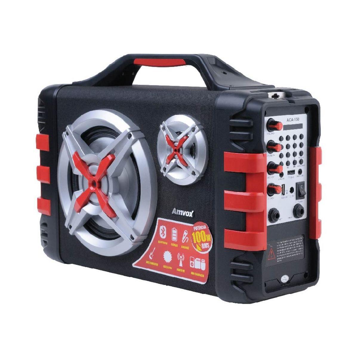 Som Caixa Amplificada Mp3 Bluetooth 100w Radio Fm Portátil