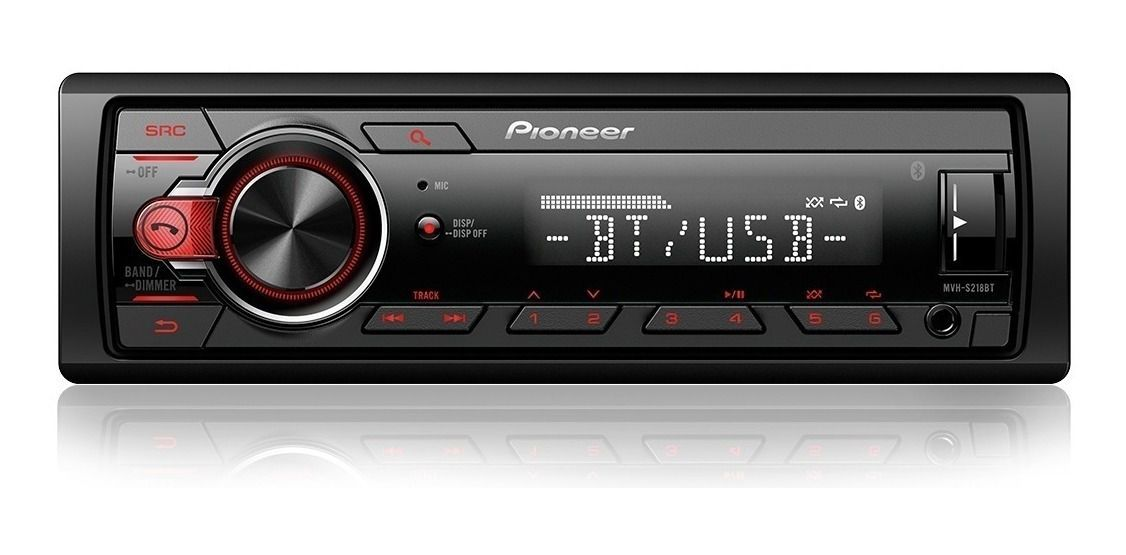 Som Mp3 Player De Carro Pioneer Potência De 23w Display Led
