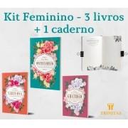 Kit Feminino - 3 livros + caderno de anotações