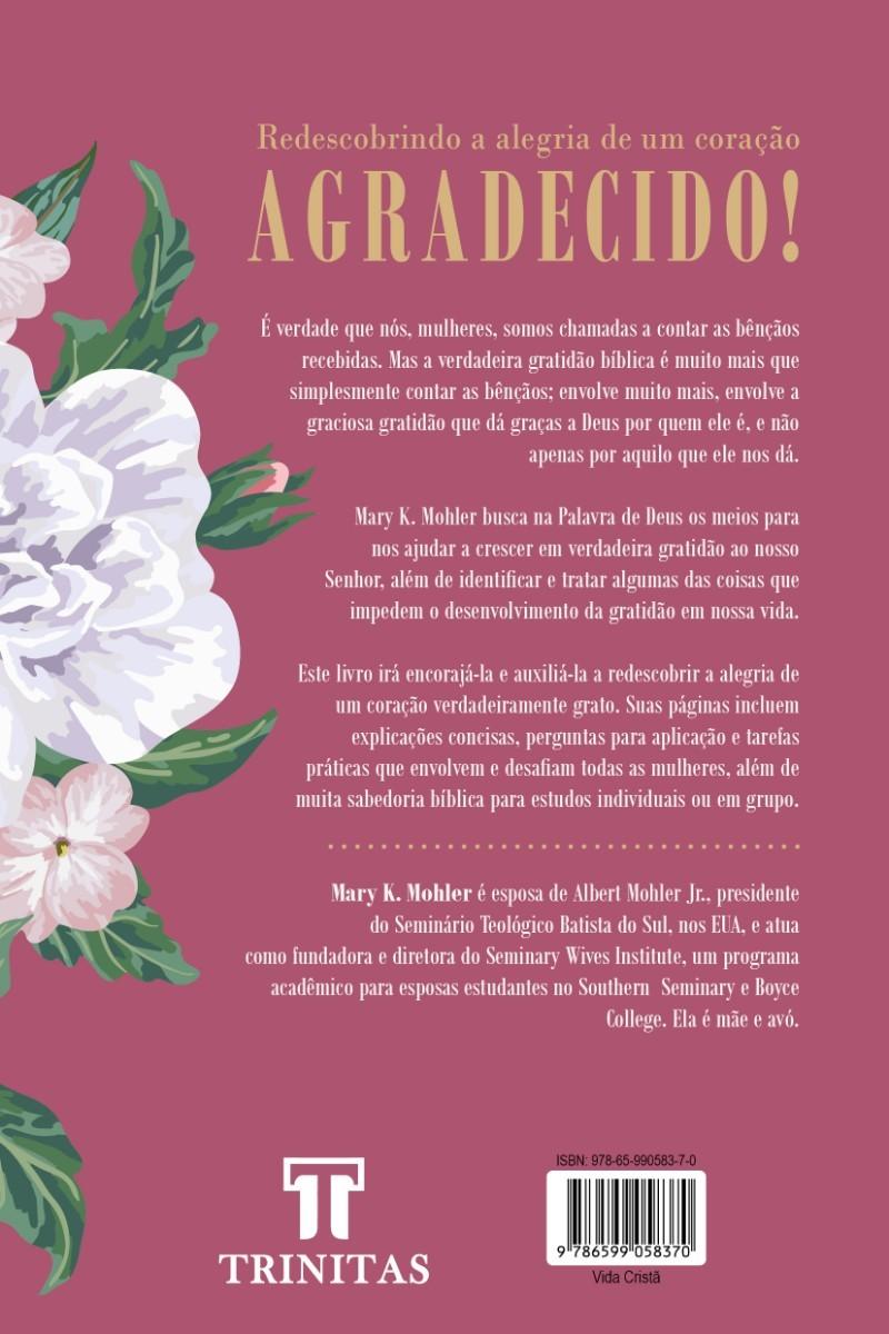Livro Gratidão - Mary K. Mohler