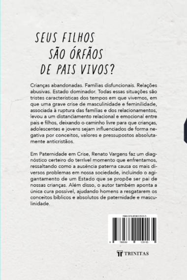 Livro Paternidade em Crise - Renato Vargens