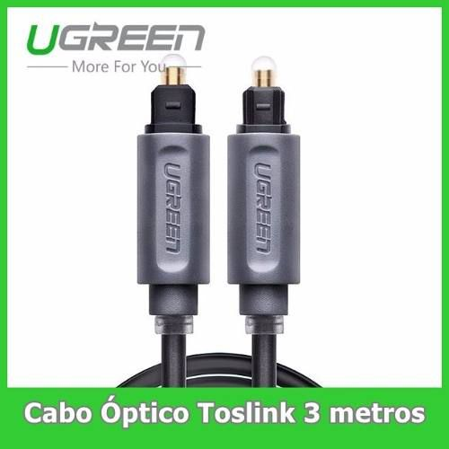 Cabo Optico Digital 24k Toslink 3 Metros Cabo Ótico 3m