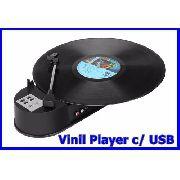 Toca Discos Vinil Player USB RCA Conversor Disco Vinil