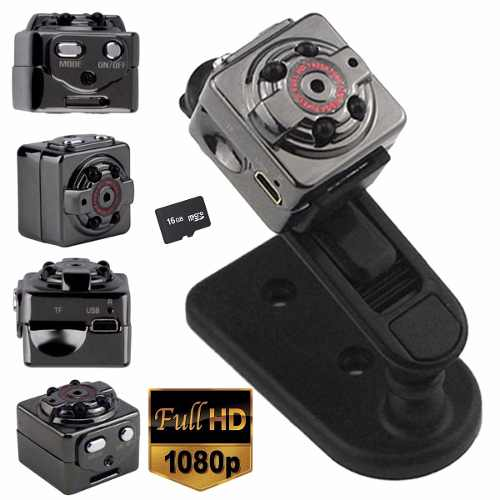 Spy Camera Sq8 Full Hd 1080p Detecta Movimento com memória MicroSD 16gb