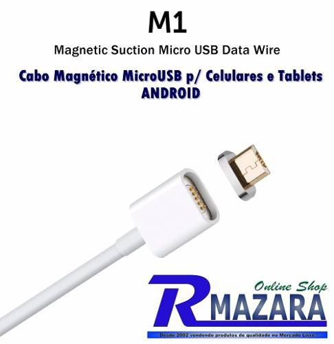 Cabo Micro Usb Magnético Para Android Smartphone Ou Tablet