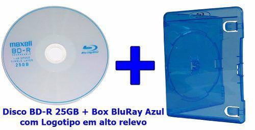 Mídia Virgem Bd-r 25gb Blu Ray Maxell Box Bluray Azul