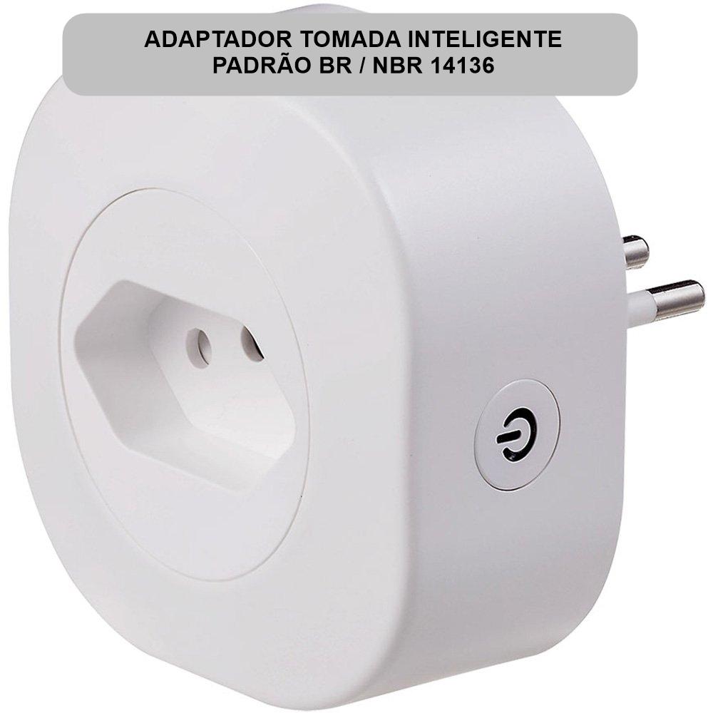 Adaptador de Tomada Inteligente Smart Life Tuya 16A 3000W