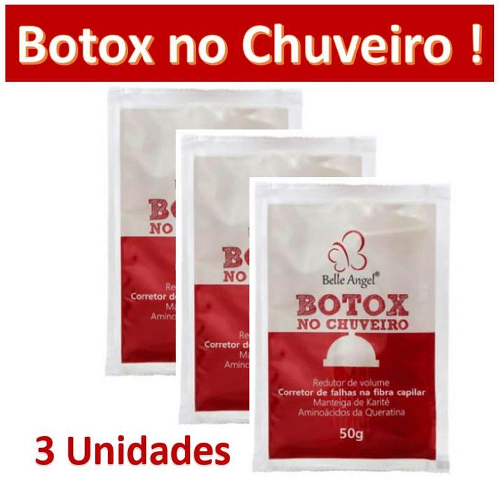 Botox no Chuveiro Kit com 3 Unidades Belle Angel de 50g