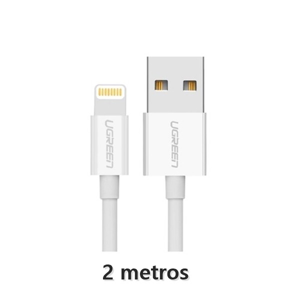 Cabo Usb Lightning iPhone & iPad Branco 2 metros
