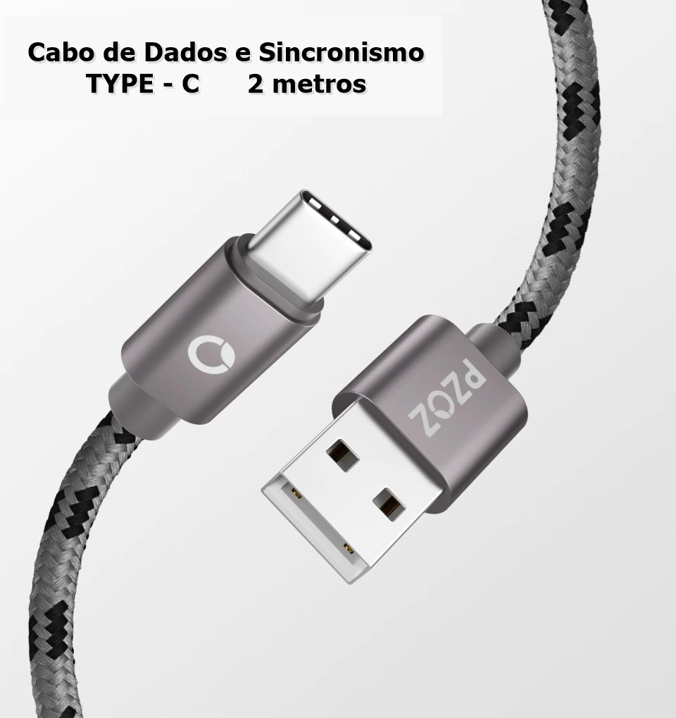 Cabo USB Type C Dados e Sincronismo Android Tipo C