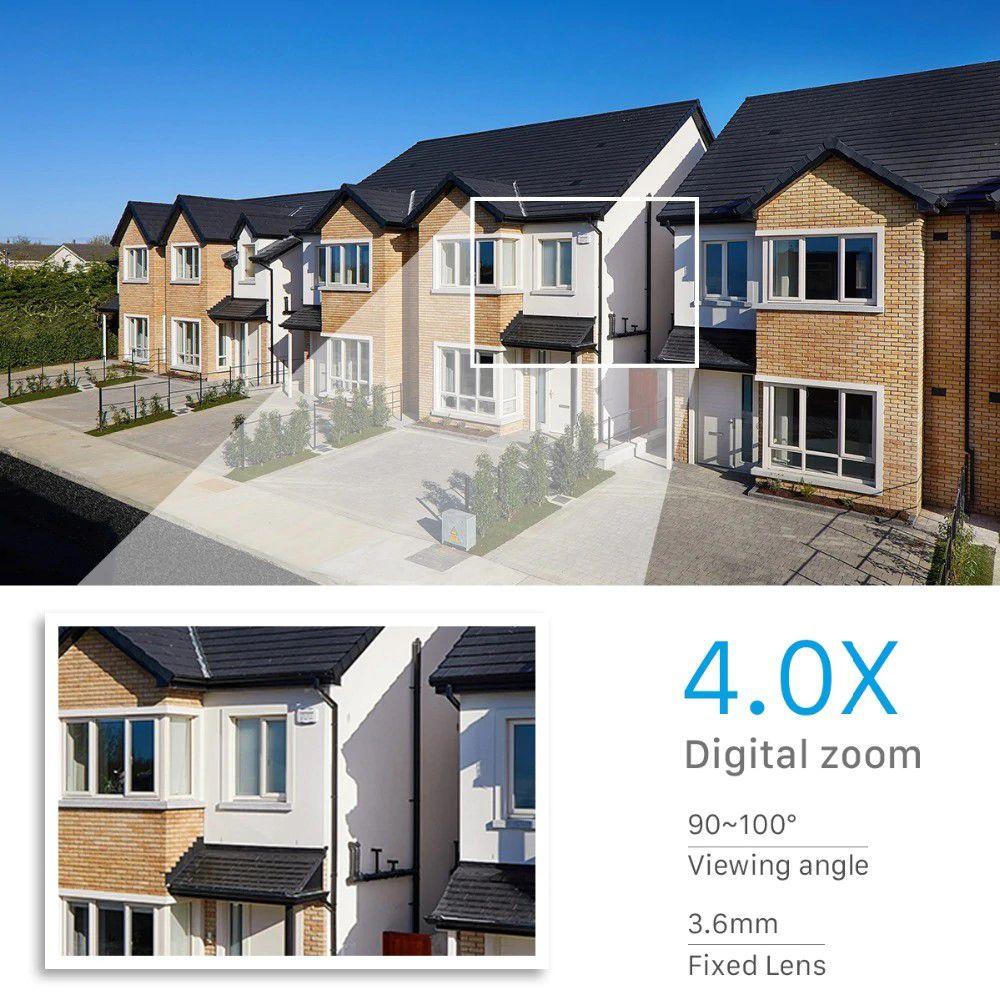 Câmera IP Externa com PTZ 1080P FULL HD e Zoom Digital 4x