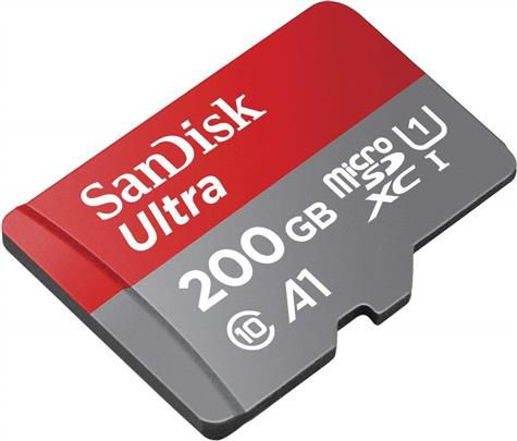 Cartão de Memória MicroSDXC 200GB Sandisk Ultra Classe 10 100MB/s