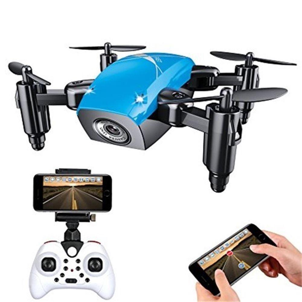 Drone com Câmera S9W 2.4G 4CH 6-Axis Azul