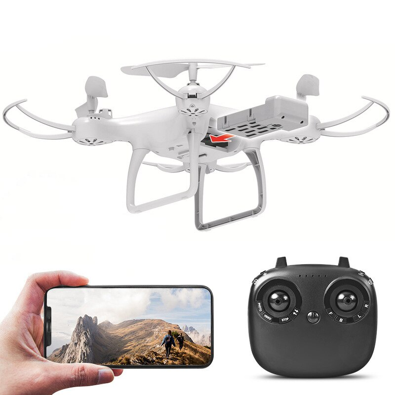 Drone TENXIND Branco câmera 4K e 3 Baterias
