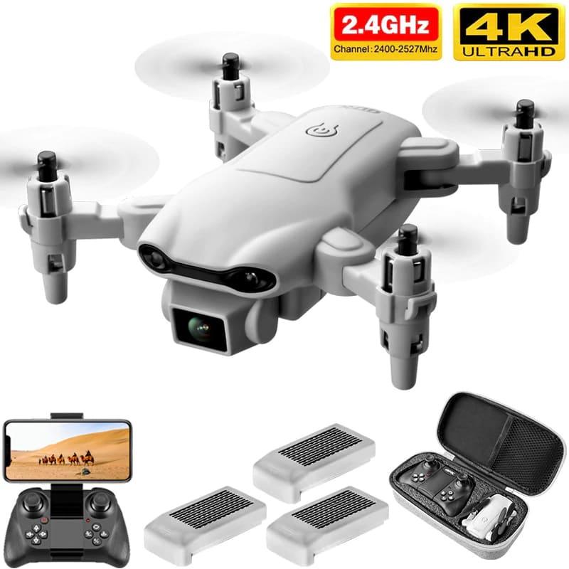 Drone V9 Câmera 4k Profissional Controle 3 Baterias