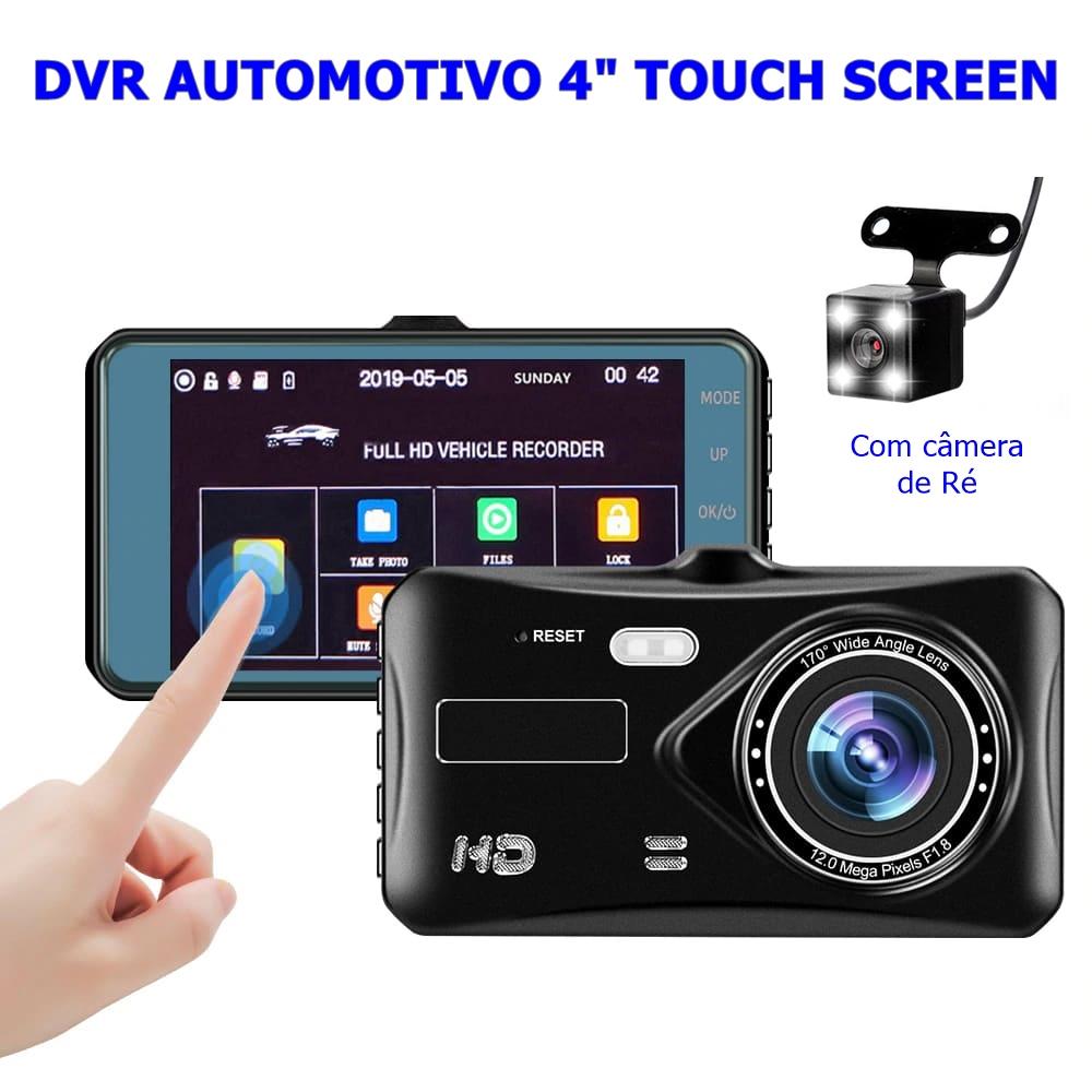 DVR Veicular Full HD, Visão Noturna, 32Gb e Câmera de Ré