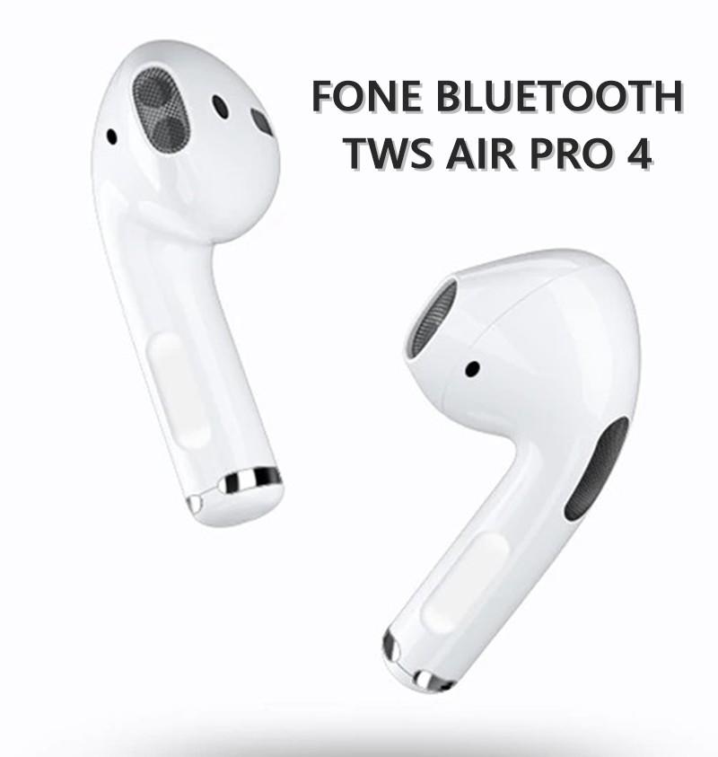 Fone de Ouvido Bluetooth TWS Pro 4 Branco