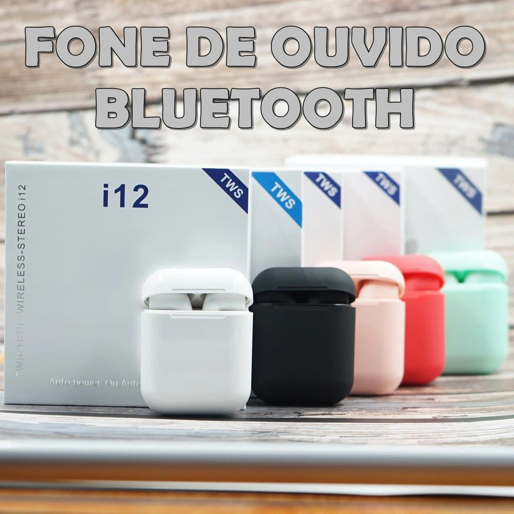 Fone Ouvido Bluetooth TWS HBQ I12s Touch