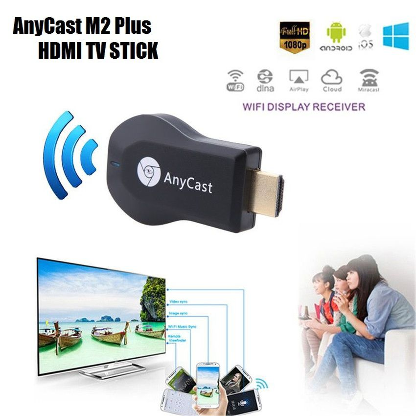 Media Player Anycast Hdmi Dongle Dlna Airplay Miracast Wifi Receiver