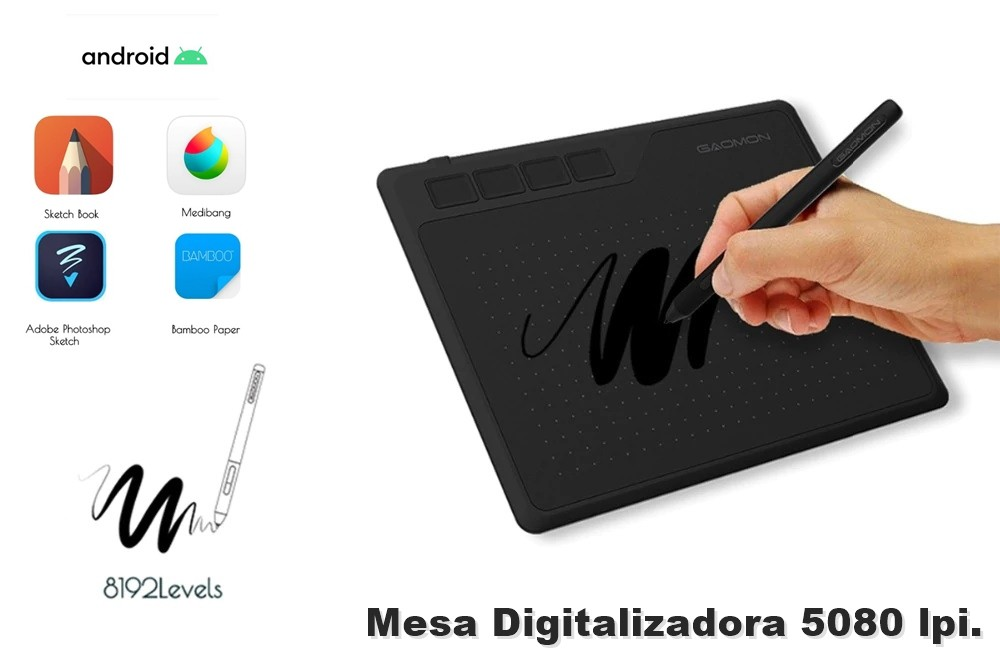 Mesa Digitalizadora 6,5 x 4 polegadas Android e Windows