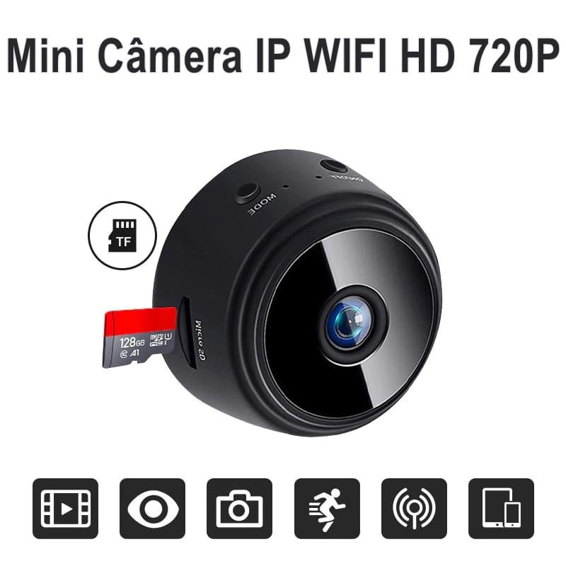 Mini Câmera IP Wireless HD 720P com Visão Noturna