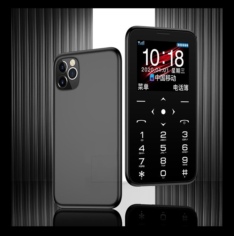 Mini Celular GSM Quadband Colorido com Câmera e Lanterna